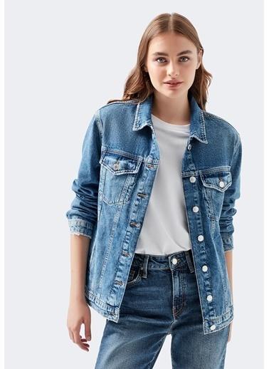 Mavi Kadın  Karla Gold Icon Jean Ceket 110154-30868 Mavi